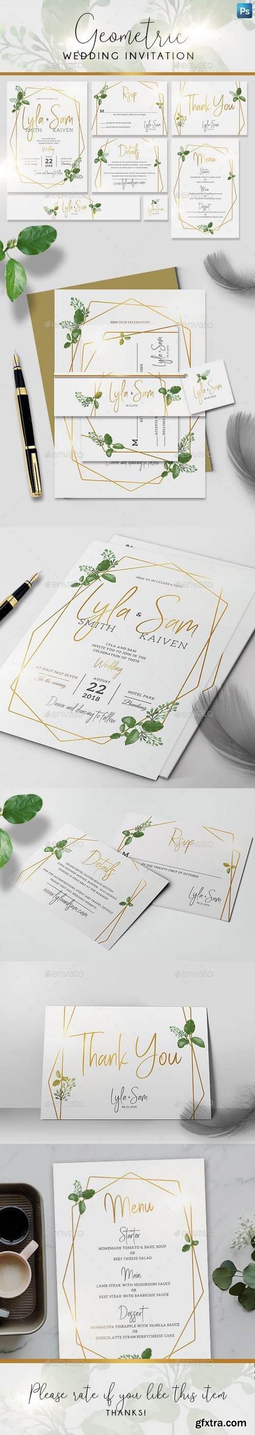 Graphicriver - Geometric Wedding Invitation 21620415