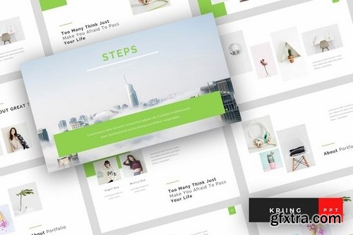Steps Powerpoint Template