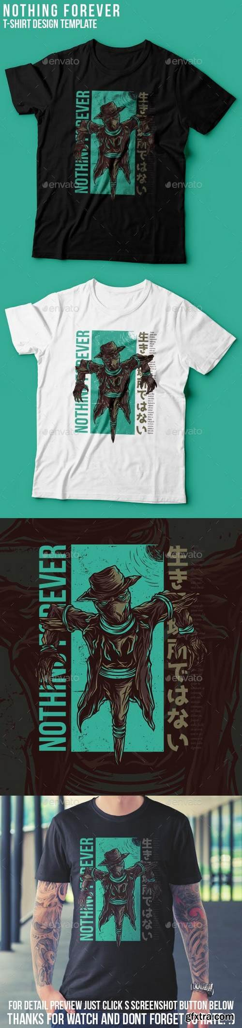 Graphicriver - Nothing Forever T-Shirt Design 22939344