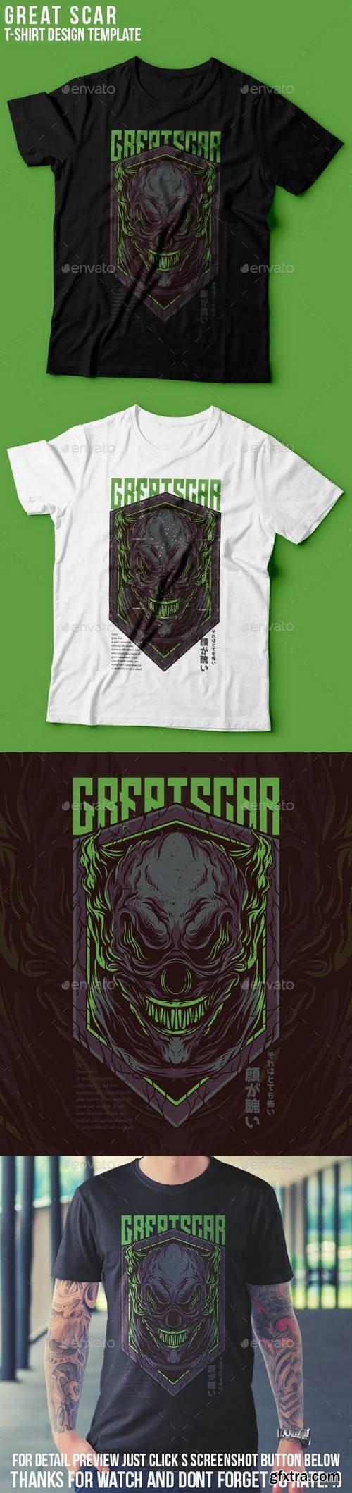 Graphicriver - Great Scar T-Shirt Design 22939359