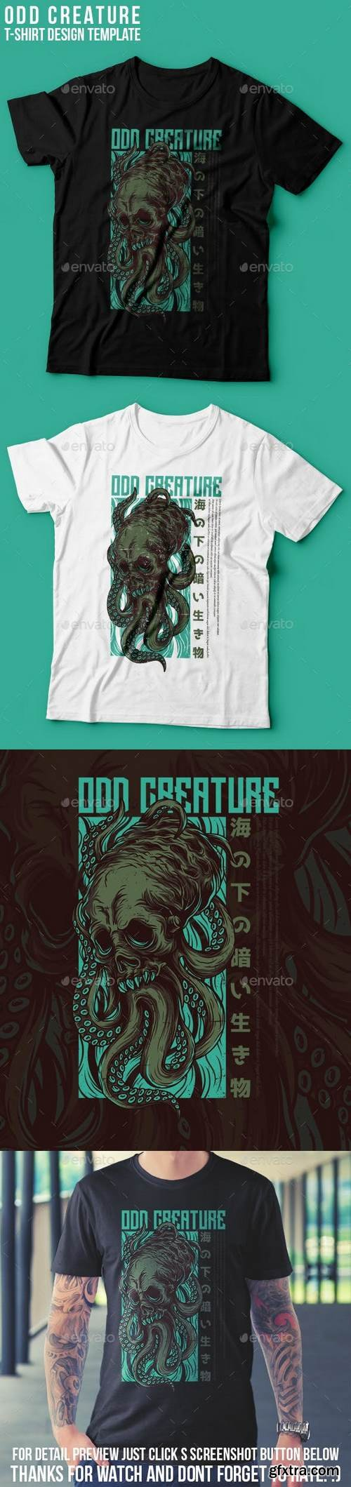 Graphicriver - Odd Creature T-Shirt Design 22939374