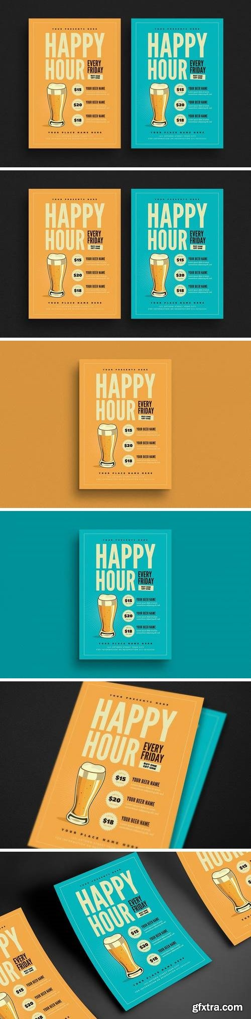 Happy Hour Beer Promotion Flyer