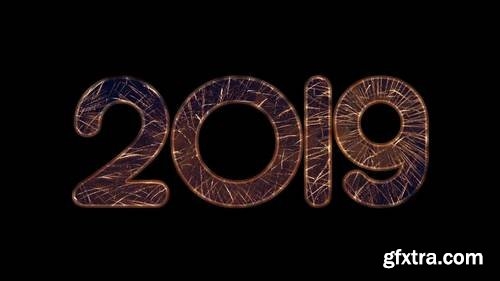 MA -  Fireworks New Year Numbers Pack Stock Motion Graphics 148194