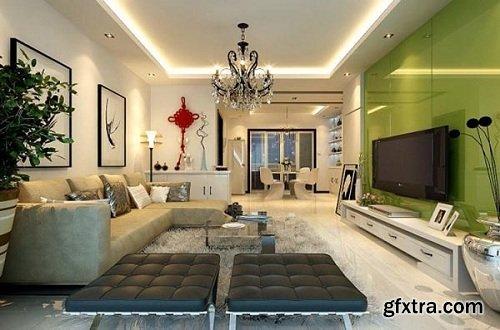 Modern Living Room 46 Interior Scene