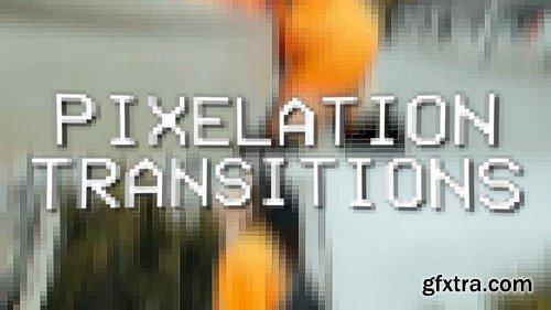 MA -  Pixelation Transitions Premiere Pro Templates 150784