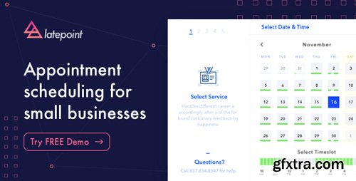 CodeCanyon - LatePoint v1.1.1 - Appointment Booking & Reservation plugin for WordPress - 22792692