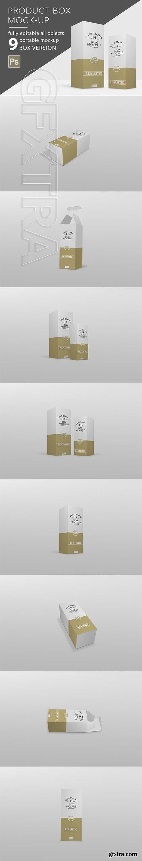 CreativeMarket - Box Mockup Thin 2948106