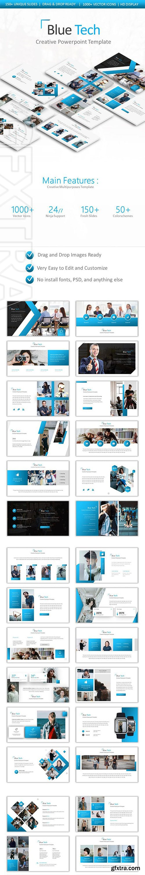 GraphicRiver - Blue Tech Powerpoint 22875554