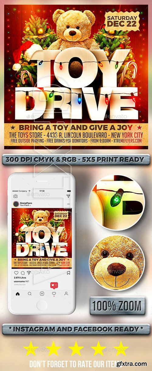 GraphicRiver - Toy Drive Flyer 22885632