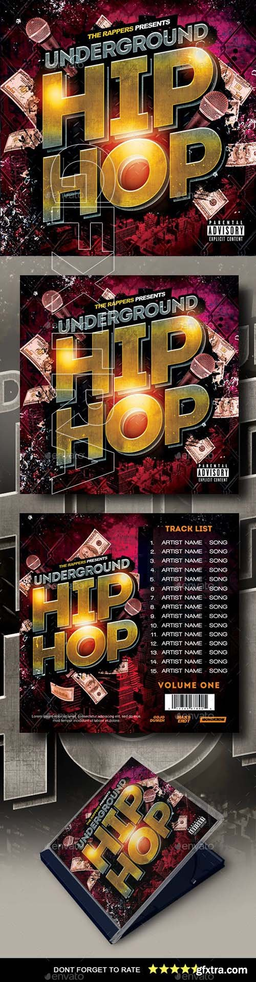 GraphicRiver - Hip Hop Mixtape Cover 22889524
