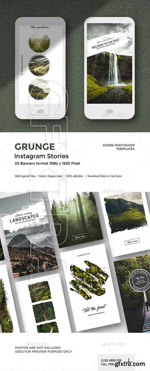 GraphicRiver - Grunge - Instagram Stories 22894720