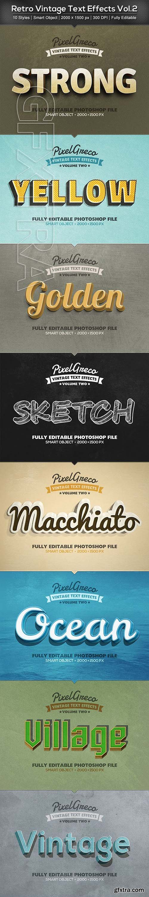 GraphicRiver - Retro Vintage Text Effects Vol2 22891278