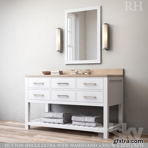 HUTTON SINGLE EXTRA-WIDE WASHSTAND