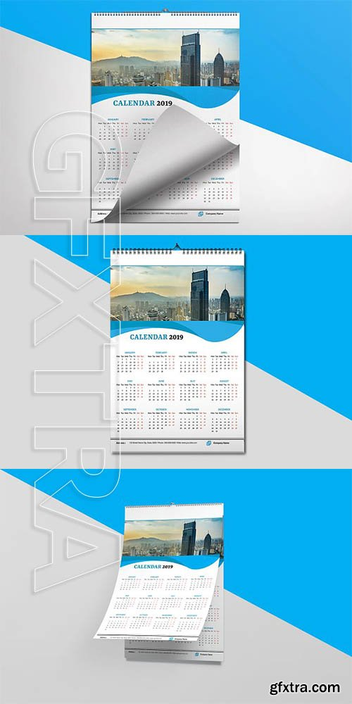 CreativeMarket - Wall Calendar 2019 3211709