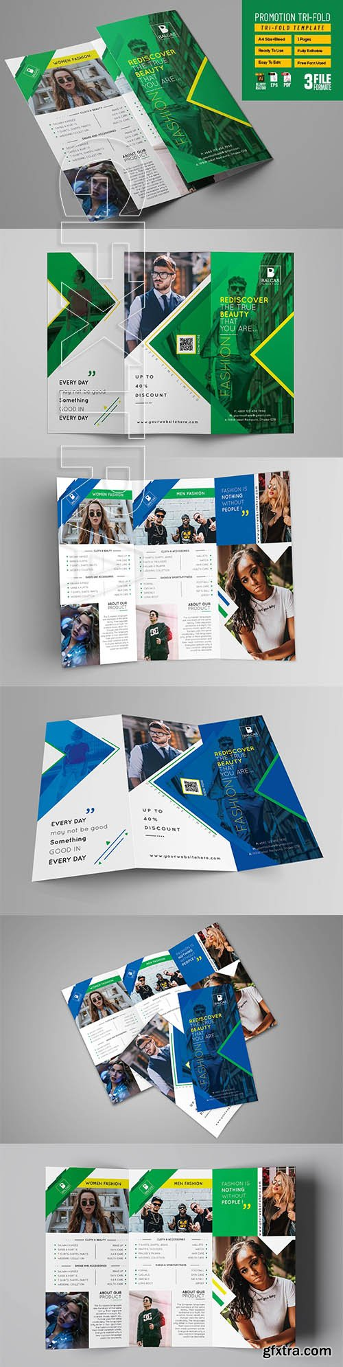 CreativeMarket - Shop Promotion Tri-fold 3209759