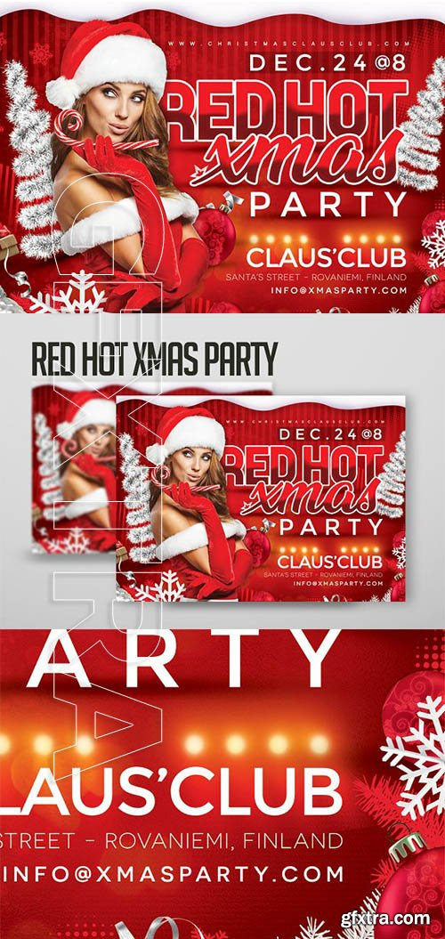 CreativeMarket - Red Hot Xmas Party 3215257