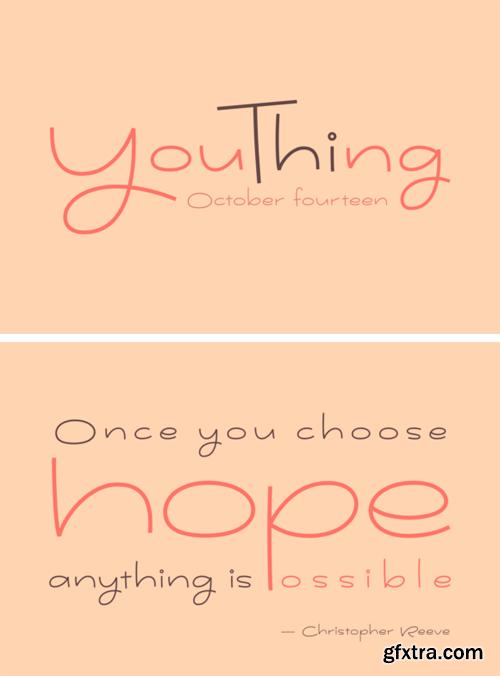 Youthing October Fourteen Font