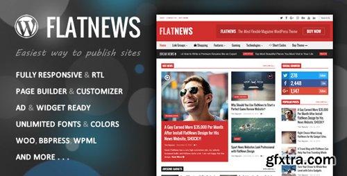 ThemeForest - FlatNews v3.8 - Responsive Magazine WordPress Theme - 6000513