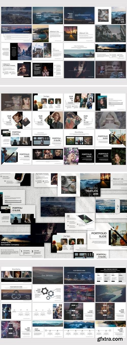 Inside - Powerpoint, Keynote, Google Sliders Templates
