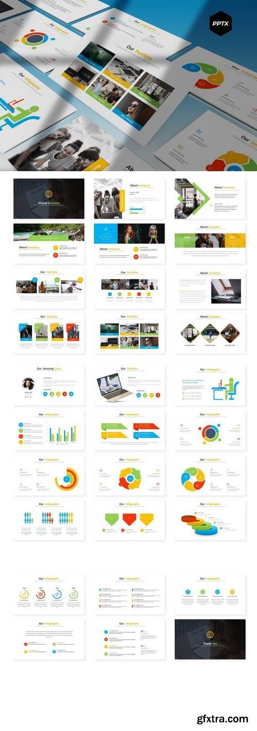 Globe Biz - Powerpoint, Keynote, Google Sliders Templates