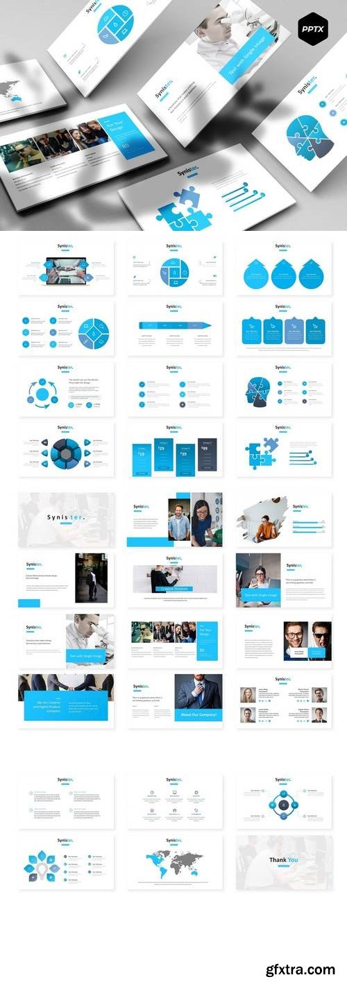 Synister - Powerpoint, Keynote, Google Sliders Templates