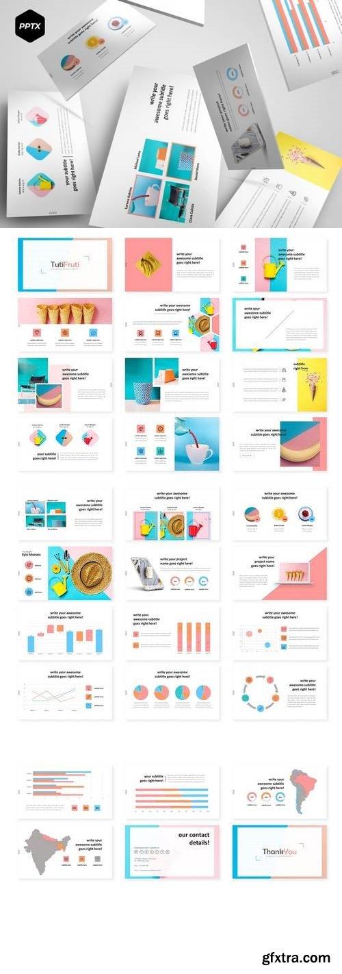 TutiFruti - Powerpoint, Keynote, Google Sliders Templates