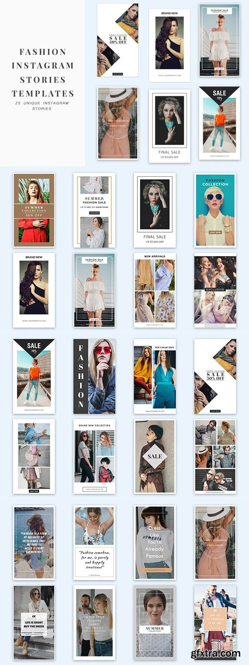 Fashion Instagram Stories Templates - K28V6H