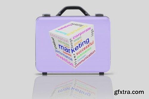 Business suitcase Mockup