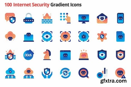 Internet Security Vector Gradient Icons