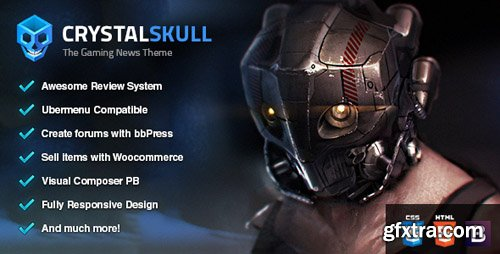 ThemeForest - CrystalSkull v1.8 - Gaming Magazine WordPress Theme - 13612358