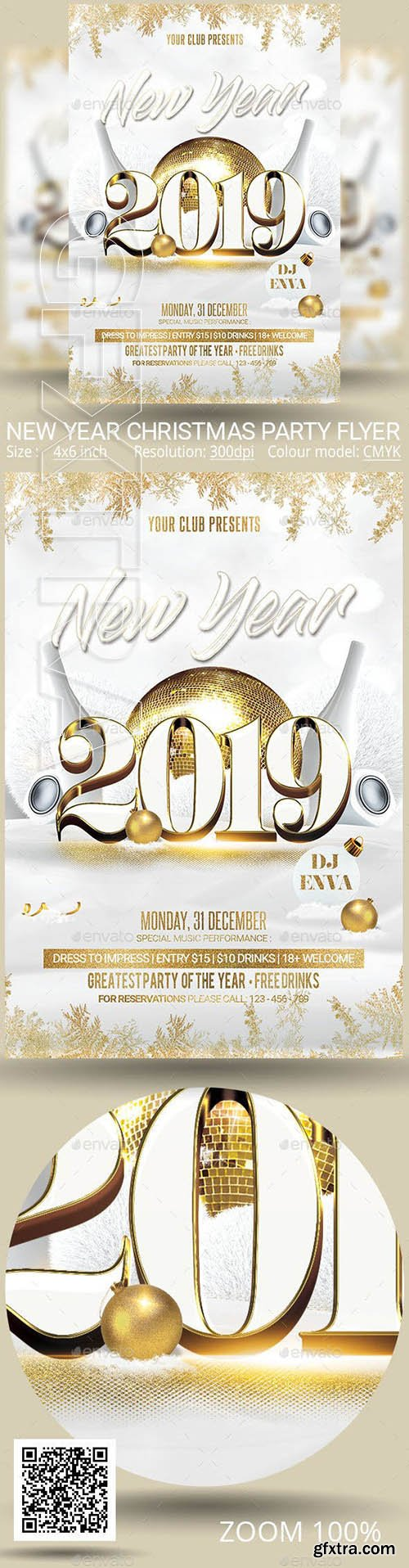 GraphicRiver - New Year Christmas Party Flyer 22992449