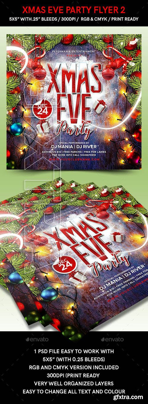 GraphicRiver - Xmas Eve Party Flyer 2 22990965