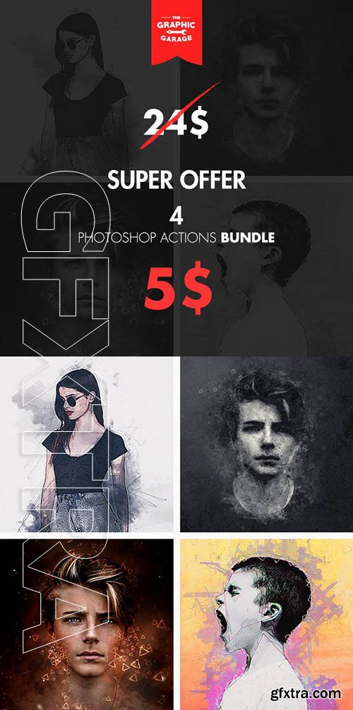 GraphicRiver - Bundle 4 in 1 - Photoshop Action 22885343