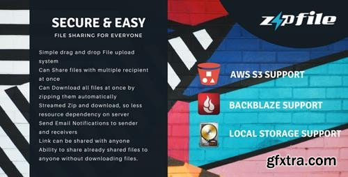 CodeCanyon - ZipFileMe v2.5.1 - Secure and Easy File sharing - 21568775