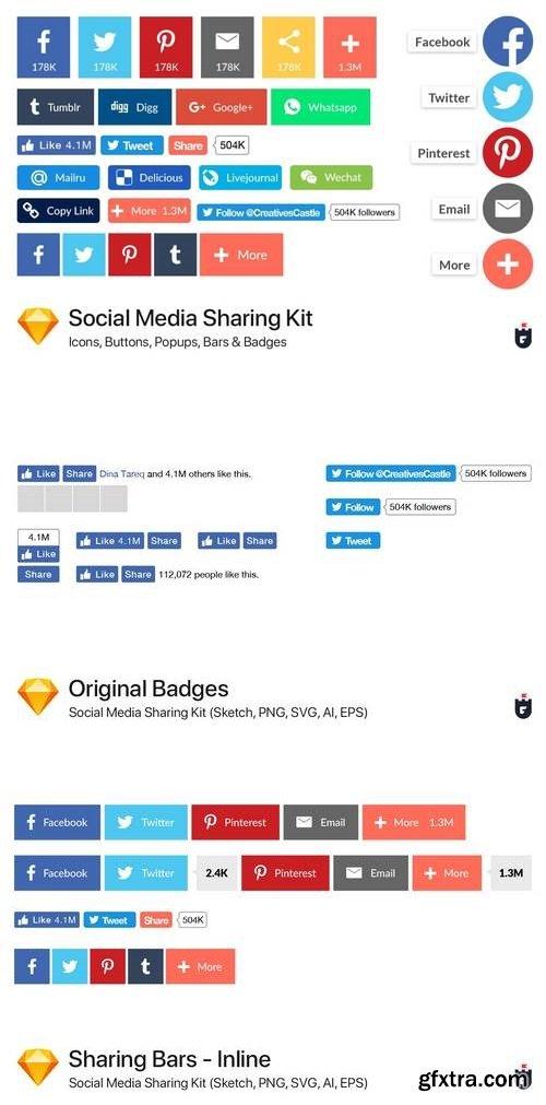 Social Media Sharing Kit - Sketch