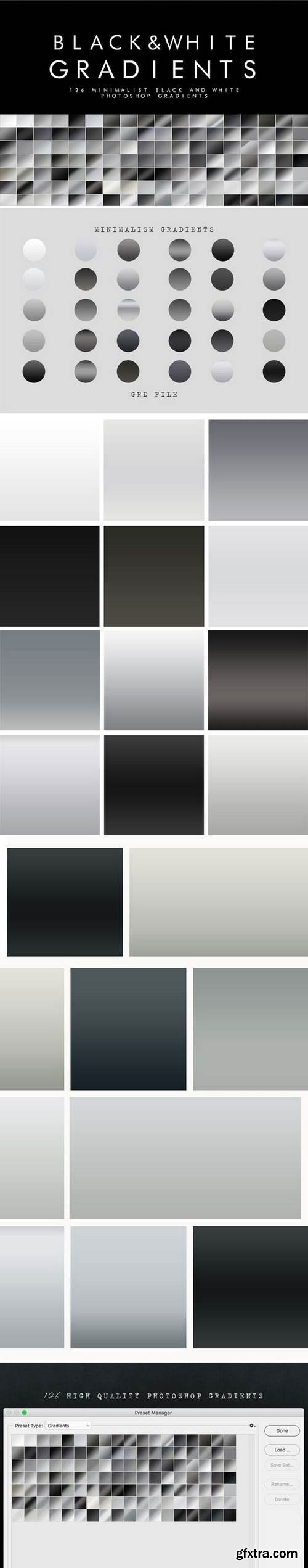 Graphicriver - 126 Black and White Gradients 21925521