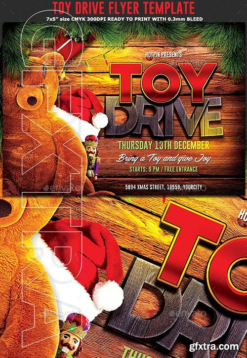 GraphicRiver - Christmas Toy Drive Flyer 22948885