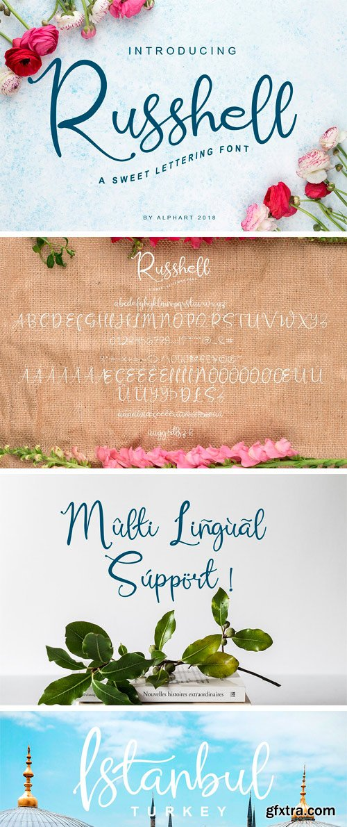 CM - Russhell a Sweet Lettering Font 3101880