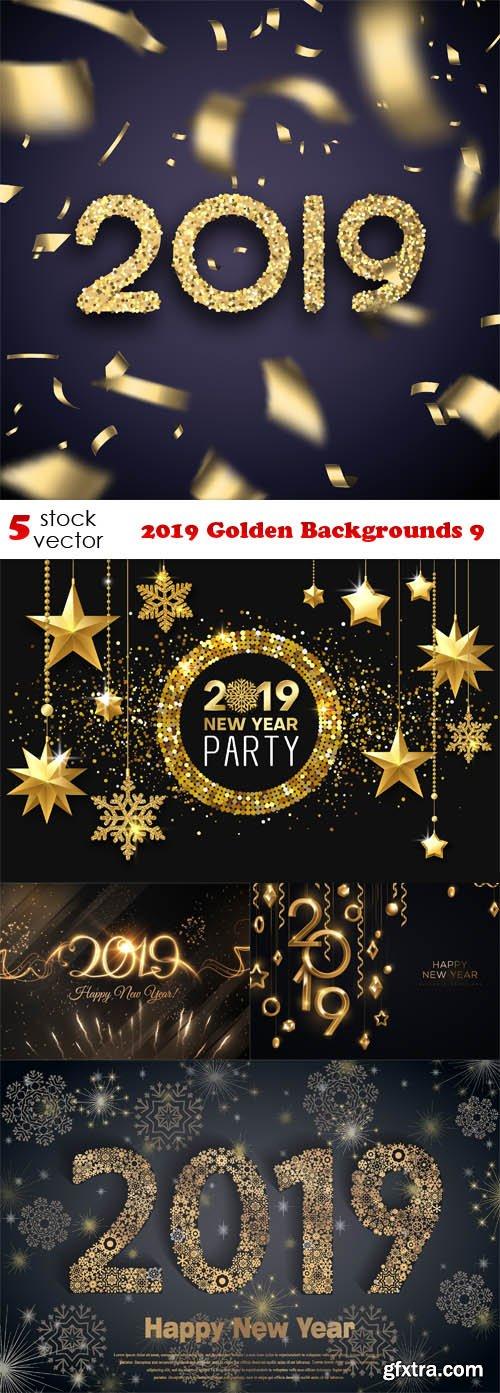 Vectors - 2019 Golden Backgrounds 9