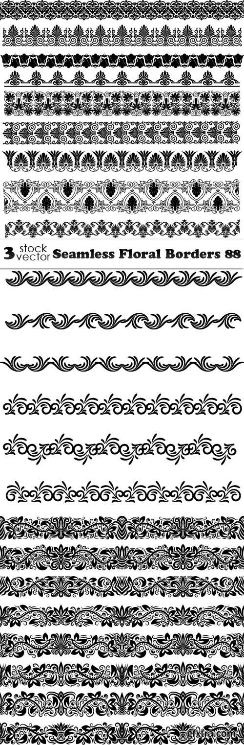 Vectors - Seamless Floral Borders 88