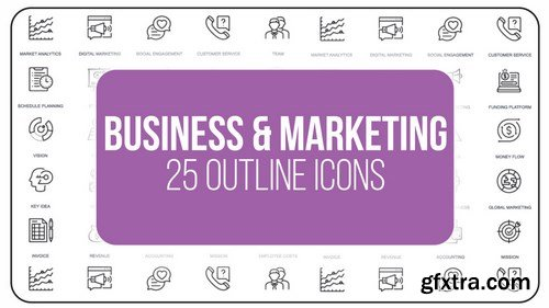 MA - Business And Marketing - 25 Outline Icons After Effects Templates 149555