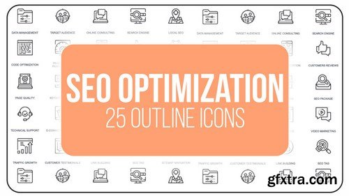 MA -  SEO Optimization - 25 Outline Icons After Effects Templates 149609