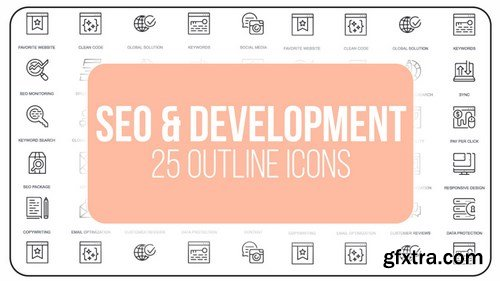 MA -  SEO And Development - 25 Outline Icons After Effects Templates 149608