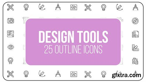MA -  Design Tools - 25 Outline Icons After Effects Templates 149560