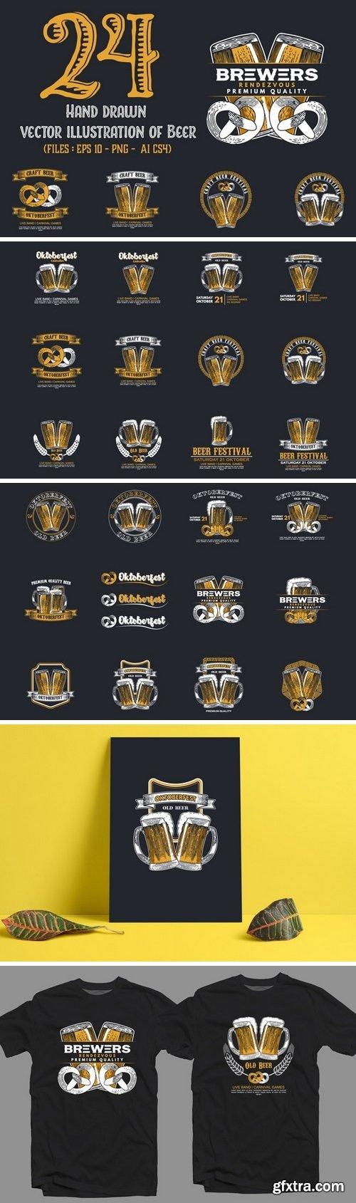 CF - Set of Beer Badges 506064