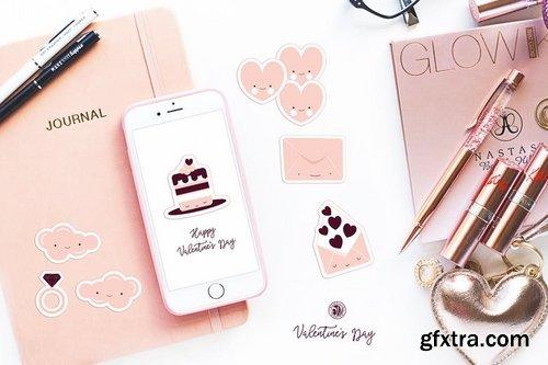 Cute Valentine\'s Day Stickers