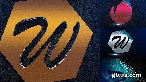 Videohive Mosaic Metal Logo 12356990