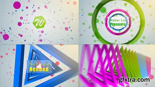 Videohive Shape Logo Reveal 5 In 1 12646700