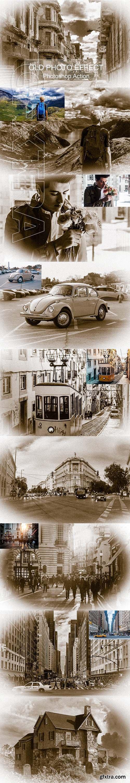 CreativeMarket - Old Photo Effect - Photo shop Action 3193382