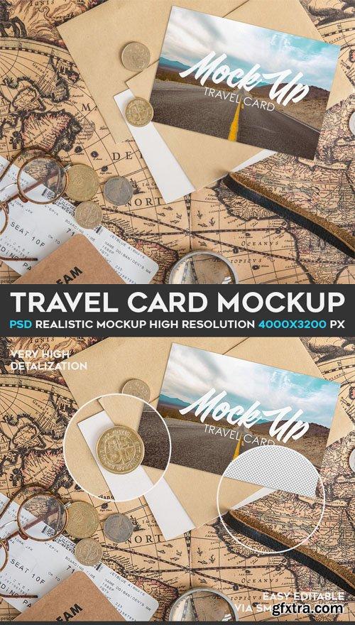 Travel Card PSD Mockup